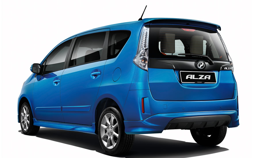 Alza S with full bodykit, clear LED tail lamps and reverse sensors - Rear view