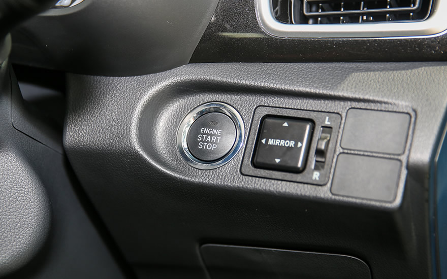 Push Start/Stop button (Premium X Variant)
