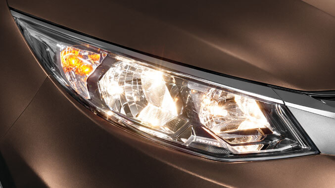 Stylish Front Headlamp with Smart Lighting*