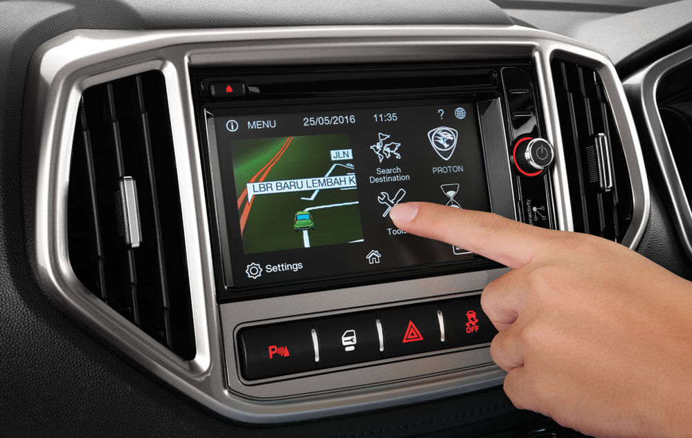PROTON Infotainment with Touchscreen Audio System, Bluetooth Connectivity & GPS Navigation*