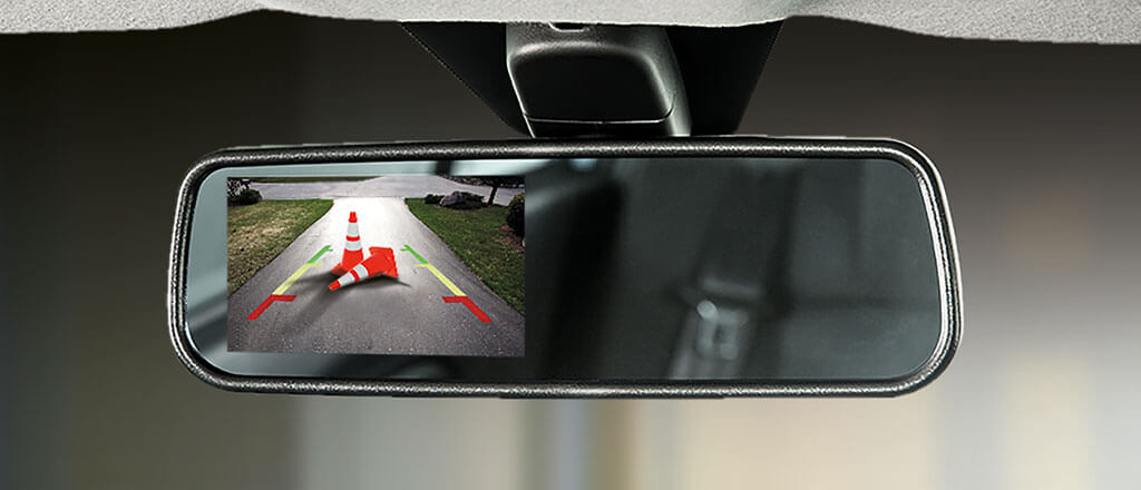 Reverse Camera with Rear View Mirror Display*